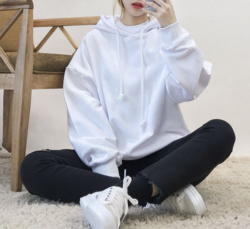 fabulous white hoodie outfit black