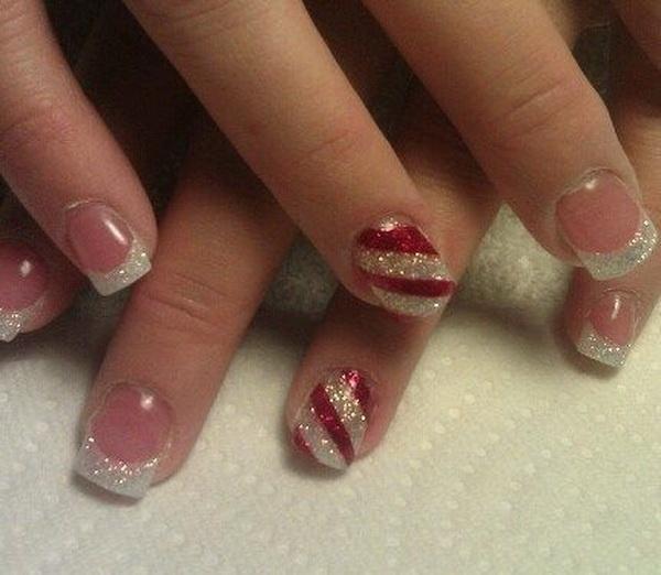 Simple Christmas Nail Art Ideas