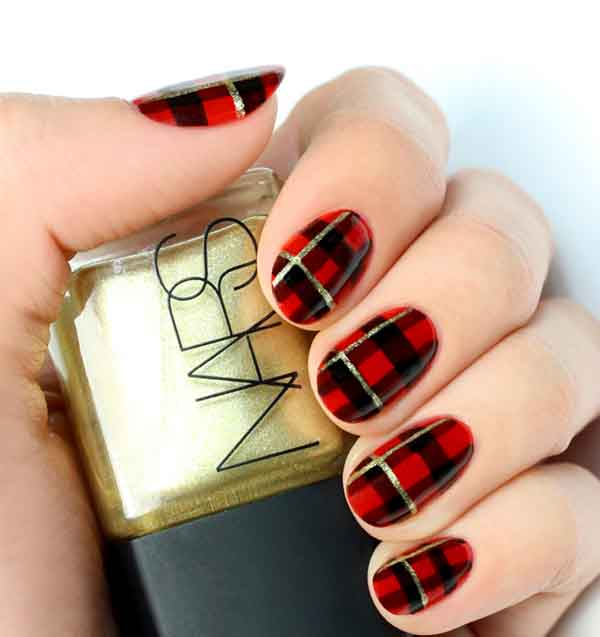Red And Black Holiday Nails Hireability