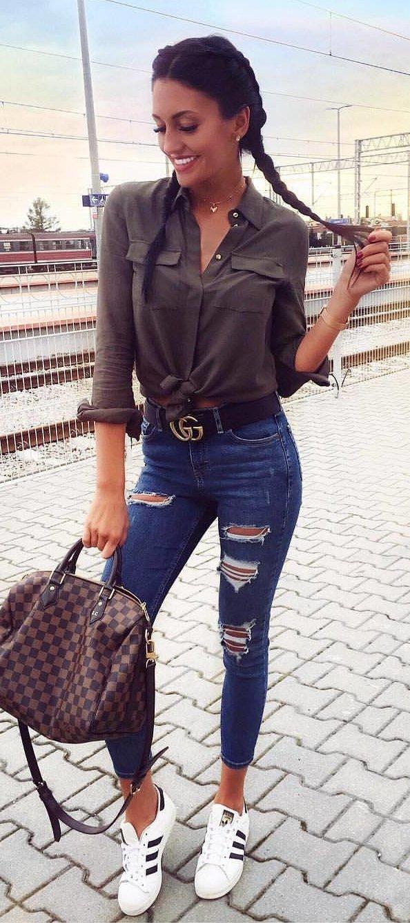 946e2fff60f Jean Long Sleeve Shirt Outfit - DREAMWORKS