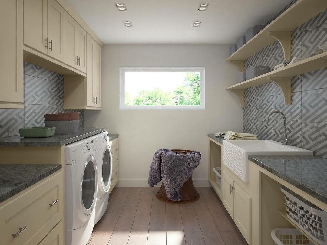 Add Warm Color To Your Laundry Room