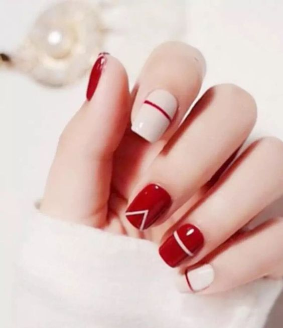 60 adoring valentines day nail art ideas linear inspired valentines nails love letter valentines nail design prinsesfo Images