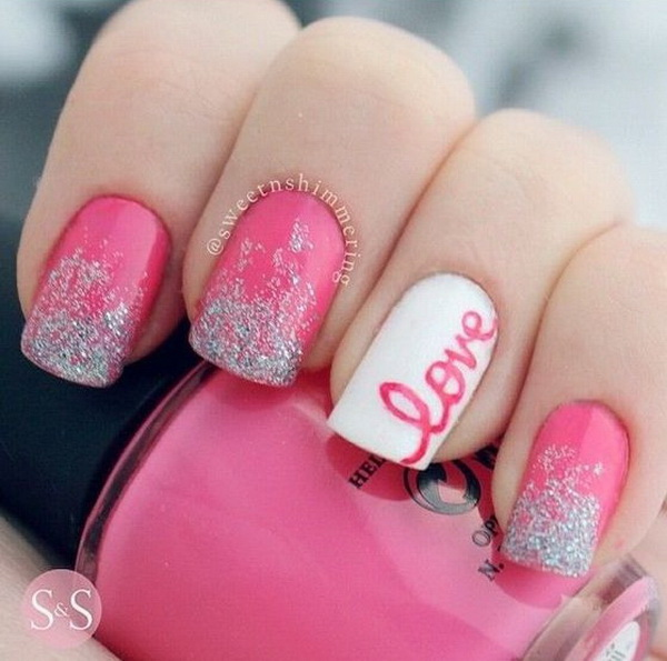 60 adoring valentines day nail art ideas romantic love valentines day nail art ideas solutioingenieria Images
