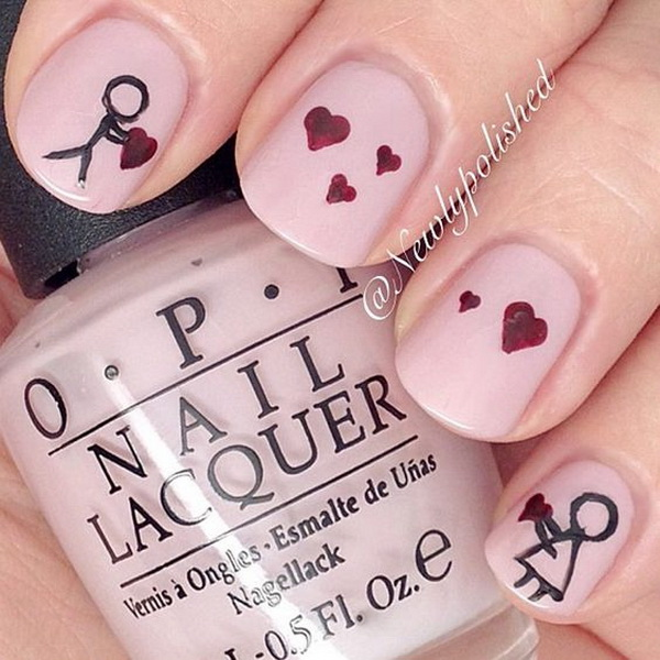 60 Adoring Valentine\'s Day Nail Art Ideas