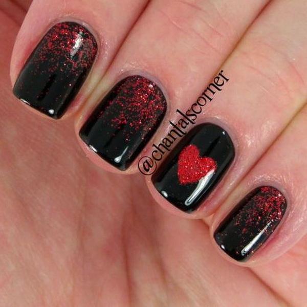 ... Valentine's Day Nail Art Designs ... - 60 Adoring Valentine's Day Nail Art Ideas