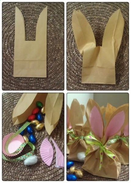 Top 75 best diy easter gifts to inspire you easter bunny treat bags negle Image collections