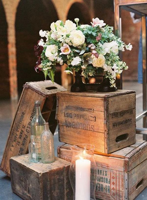 45 Rustic Wooden Crates Wedding Ideas Brasslook