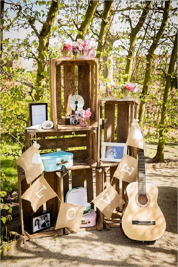 Rustic Wooden Crates Wedding Ideas