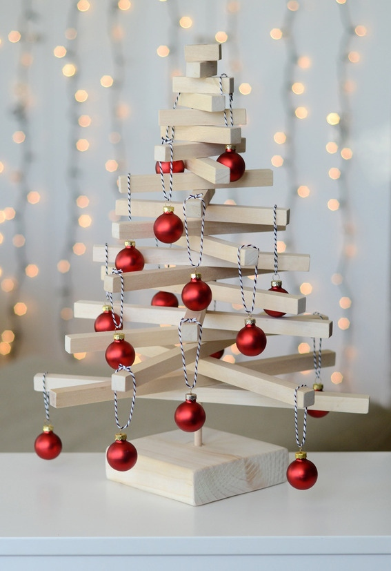 12 modern wooden tabletop christmas tree