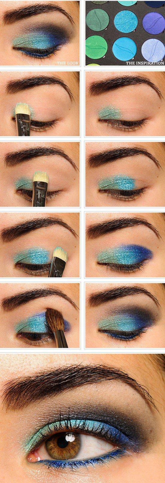 blue makeup tutorial for green eyes   saubhaya makeup