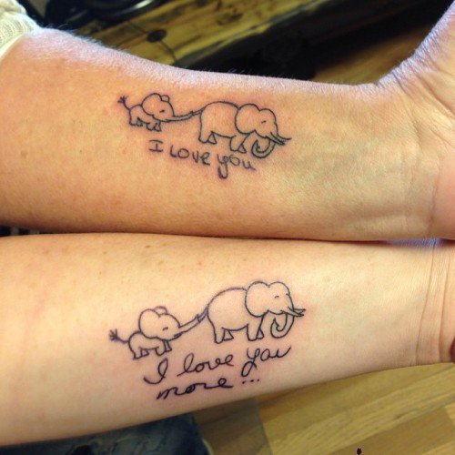 4ae39aab8 40+ Mother Daughter Tattoo Ideas to Express the Beauty of Your Bond ...