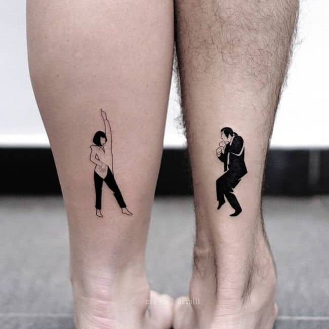 The Pulp Fiction matching tattoo.